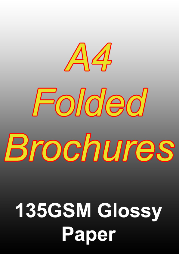 Brochure Printing - 1000 Full Colour Folded Brochures (A4) On 135gsm Glossy Paper