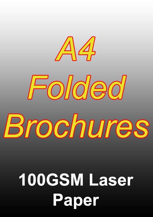 Brochure Printing - 1000 Full Colour Folded Brochures (A4) On 100gsm Laser Paper