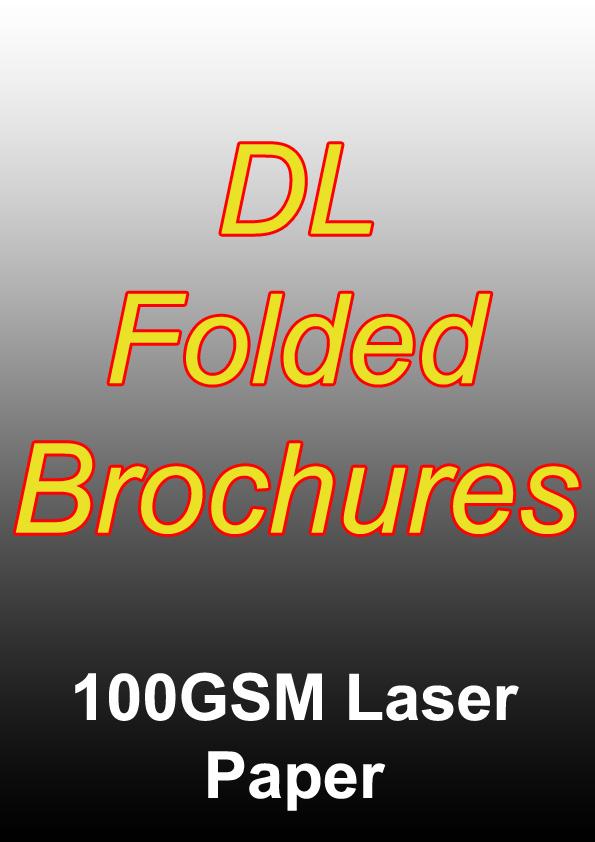 Brochure Printing - 1000 Full Colour Folded Brochures (DL) On 100gsm Laser Paper