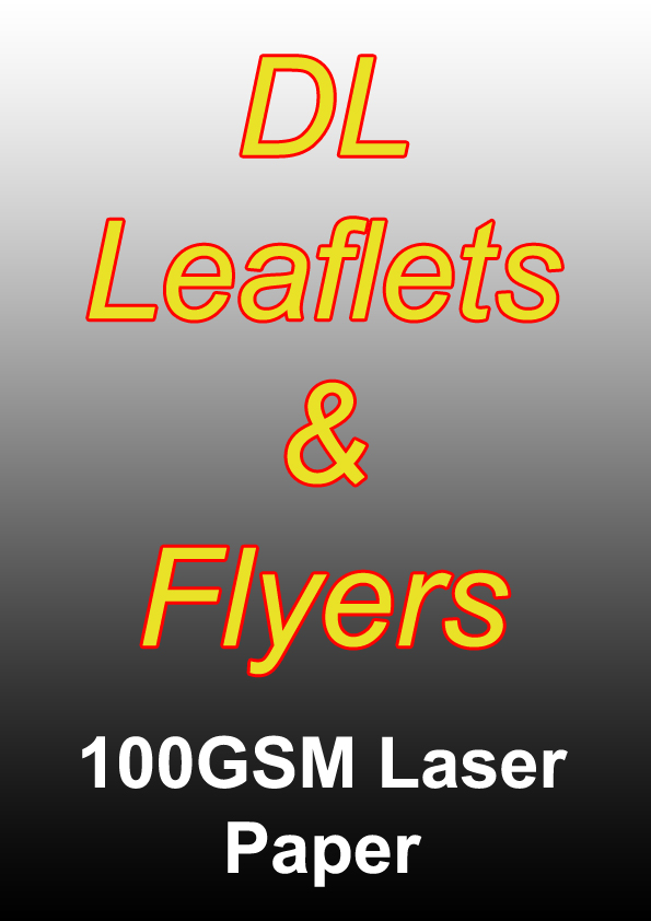 Leaflet Printing - 500 DL Black And White Flyers on 100gsm Laser Paper