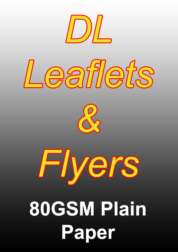 Leaflet Printing - 1000 DL Full Colour Flyers on 80gsm Plain Paper