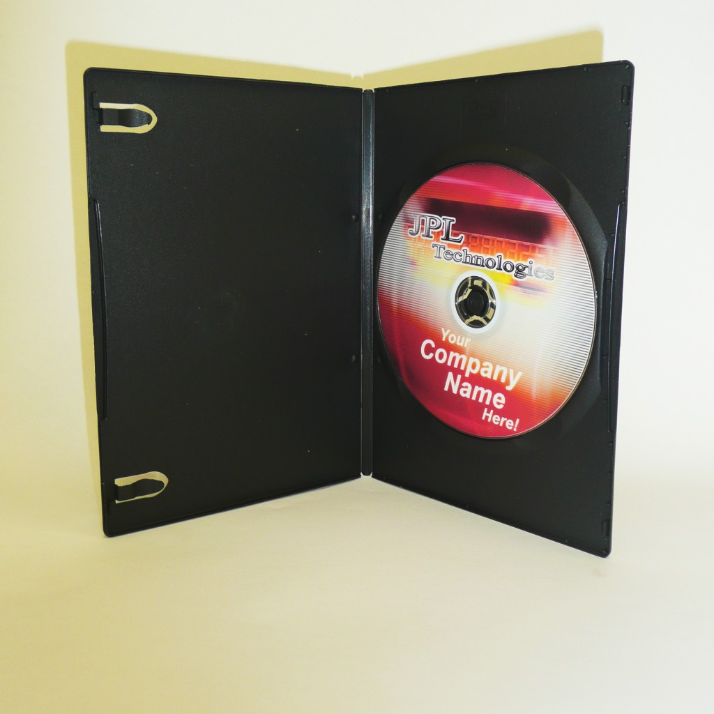 100 Black 7mm DVD Case