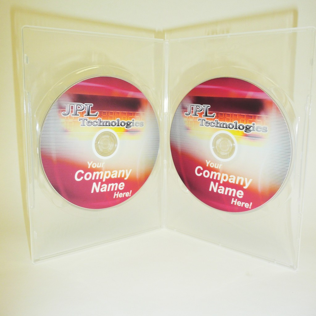 100 Clear 9mm Double DVD Case