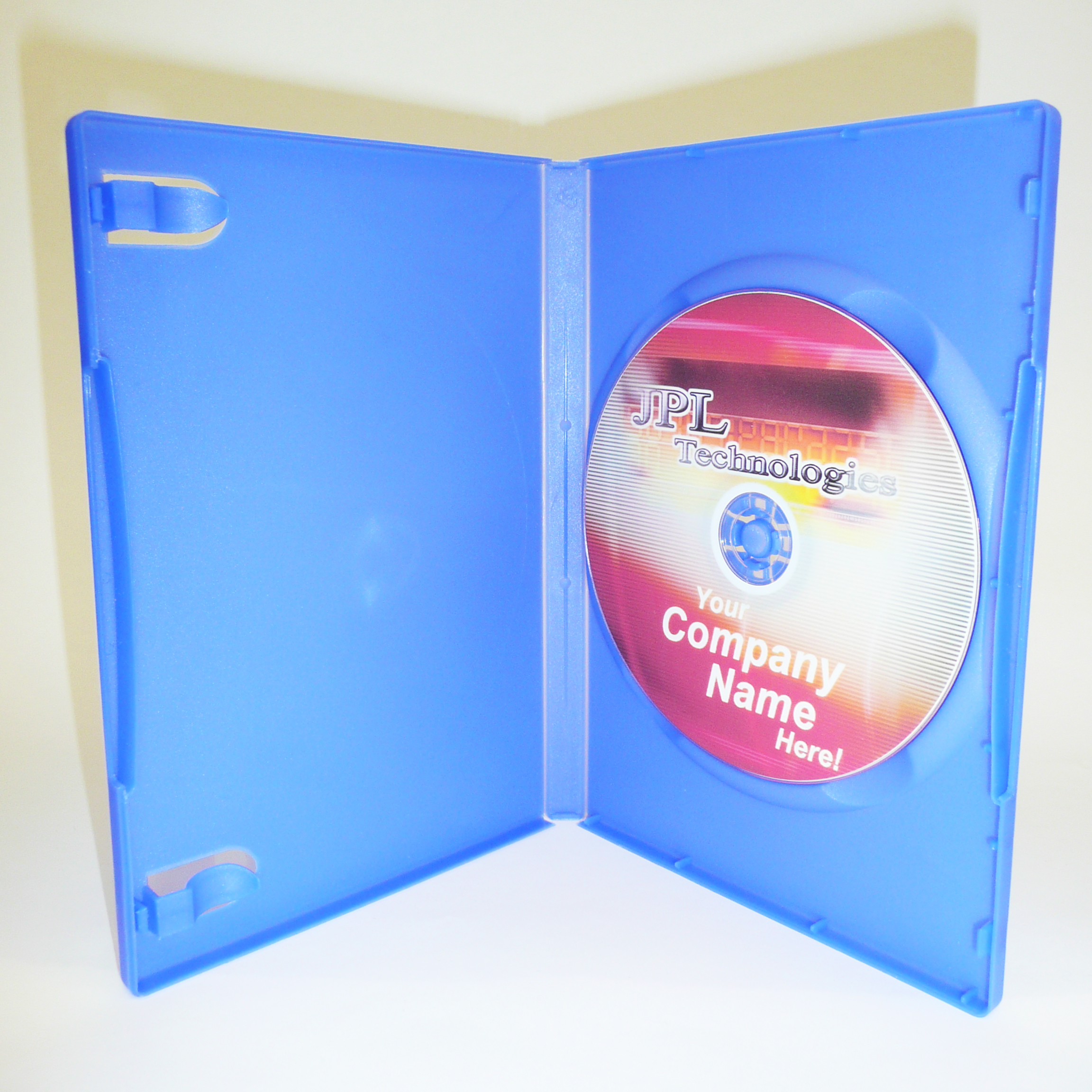 100 Blue 14mm DVD Cases