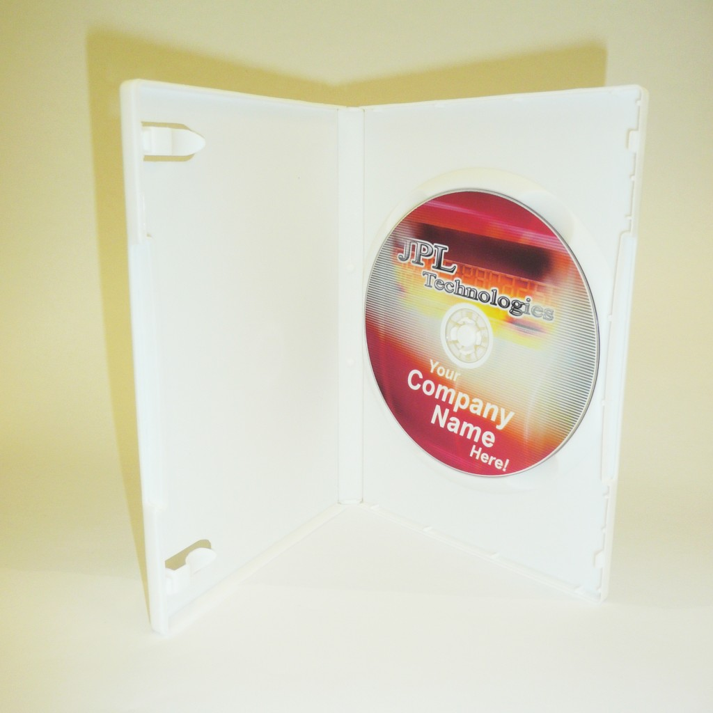 100 White 14mm DVD Case