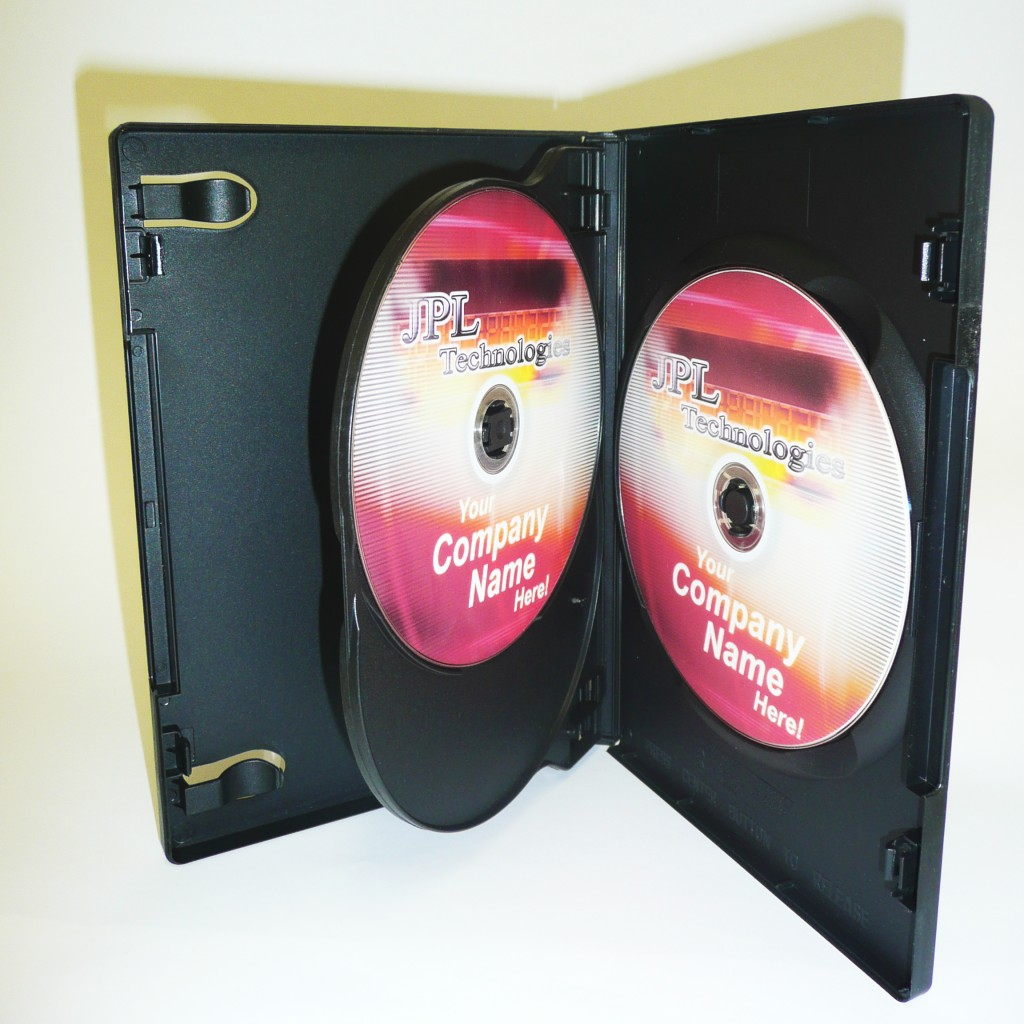 100 Triple Black 14mm DVD Cases