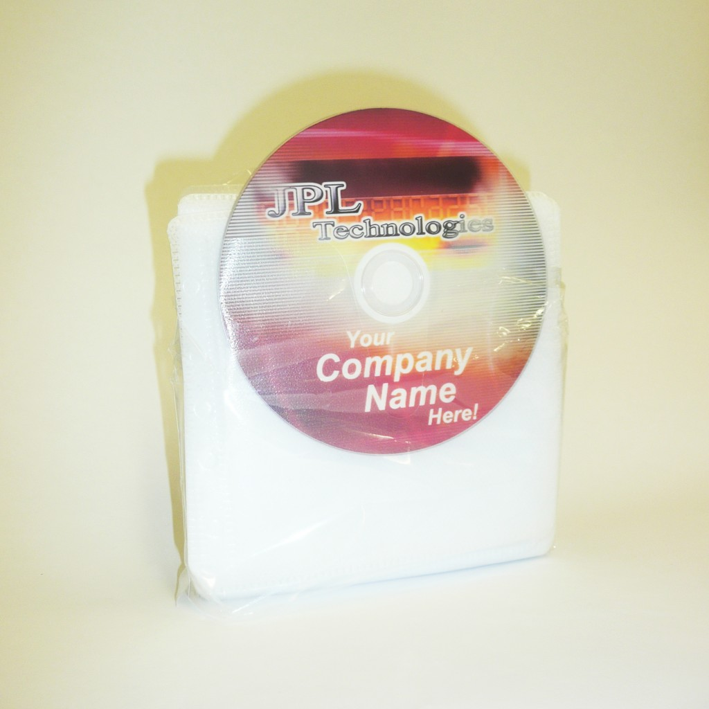 100 Doulbe PVC Sleeves White