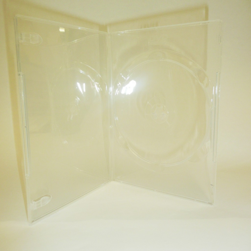 100 Clear 9mm Single DVD Case