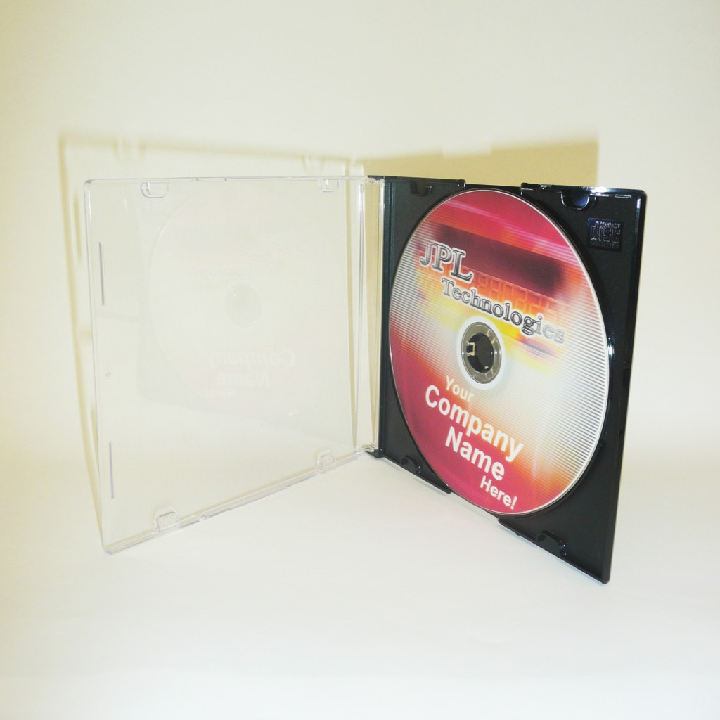 100 CD Black Slim Line Jewel Cases